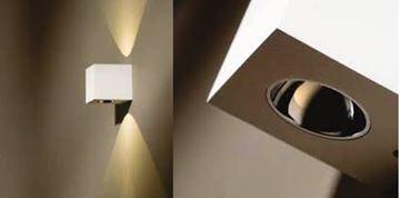 """Image de APPLIQUE LED """"BLOX UP/DOWN"""" 2X1,2W 727 BLANC/CHROME"""