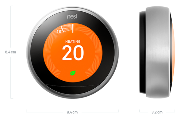 Image sur NEST LEARNING THERMOSTAT 3 GENERATION INOX