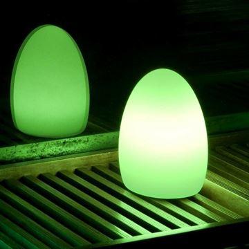 Image de LAMPE A POSER LED OVALE RGB SUR BATTERIE IP44