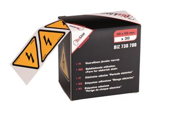 Image de TRIANGLE DANGER ELECTRIQUE 50X50 ADHESIF