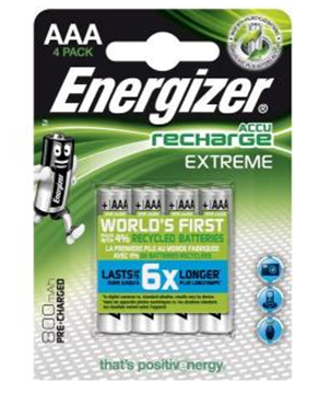 Image de PILES EXTREME AAA 800MAH RECHARGEABLE 4PC