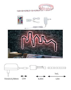 """Image de BANDEAU LED STRIP """"FLEXLED 3D"""" EN KIT 7W/M RGB 1,5M"""