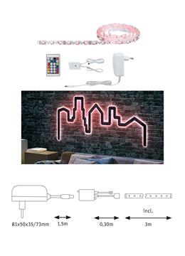 """Image de BANDEAU LED STRIP """"FLEXLED 3D"""" EN KIT 7W/M RGB 3M"""
