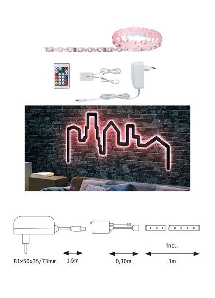 """Image sur BANDEAU LED STRIP """"FLEXLED 3D"""" EN KIT 7W/M RGB 3M"""