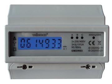 Image de COMPTEUR kWh TRIPHASE RAIL DIN 7 MODULES