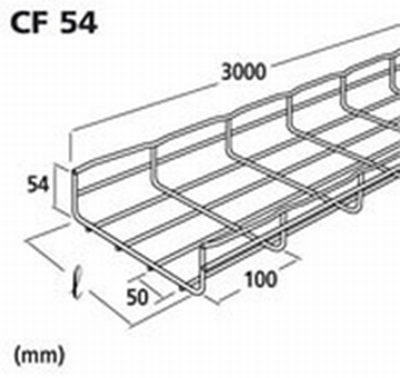 Image de CHEMIN DE CABLE CF 54X50 EZ 3M